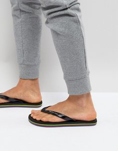 Read more about Ps paul smith dale flip flops in black - black