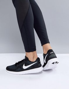 Read more about Nike running free run trainers in black - black white-dk grey-