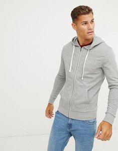 Read more about Jack jones essentials zip through hoodie - light grey melange