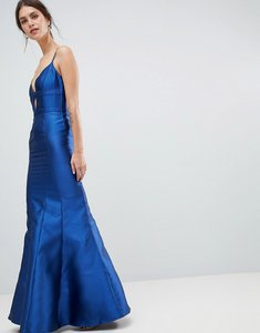 Read more about Minuet fishtail maxi dress with cut out detail