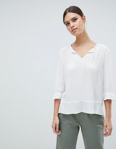 Read more about French connection kathryn crinkle blouse - winter white