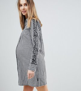 Read more about Supermom maternity gingham shirt dress - c270 black