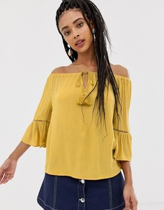 Read more about New look tassel bardot top - yellow