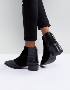 Read more about Office amplify leather pointed boots - black