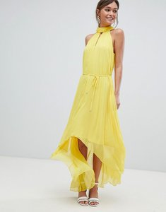 Read more about Ted baker pleated collar maxi dress - yellow