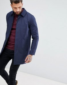 Read more about Asos design shower resistant single breasted trench in navy - navy