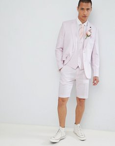 Read more about French connection wedding linen slim fit suit jacket - dusky pink