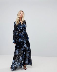 Read more about Forever new printed maxi dress with full sleeve - midnight floral
