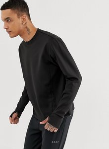 Read more about Asos 4505 sweatshirt in 4 way stretch jersey - black
