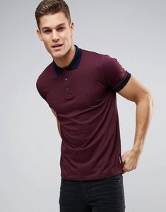 Read more about French connection polo shirt with contrast collar and cuff - red