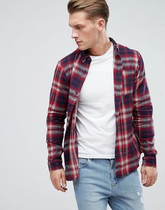 Read more about D-struct flannel check shirt - red
