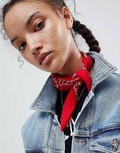 Read more about Asos paisley bandana print neckerchief headscarf - red