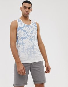 Read more about Bellfeild hibiscus fade print vest in powder blue