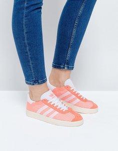 Read more about Adidas originals coral primeknit gazelle trainers - sun glow s16