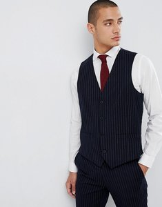 Read more about French connection slim pinstripe waistcoat - marine