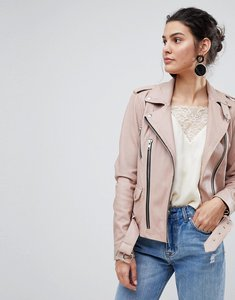 Read more about Y a s leather jacket - pink