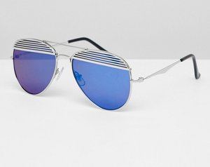 Read more about Jeepers peepers aviator sunglasses with coloured lens - silver blue