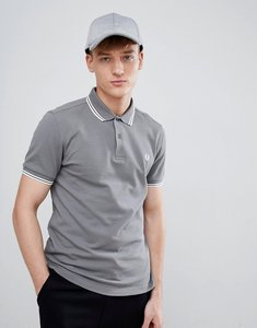 Read more about Fred perry twin tipped polo in grey - 614