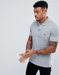 Read more about Lacoste slim fit logo polo shirt in slate grey - kc8