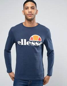 Read more about Ellesse long sleeve t-shirt with classic logo in navy - navy
