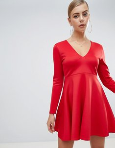 Read more about Missguided scuba skater dress - red