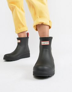 Read more about Hunter original play black short wellington boots - black