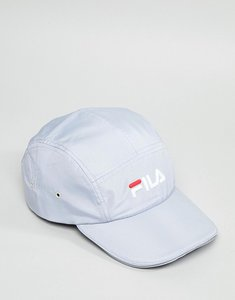Read more about Fila parker 5 panel logo cap in grey - grey