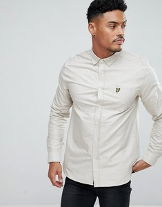 Read more about Lyle scott long sleeve oxford shirt in light stone - light stone