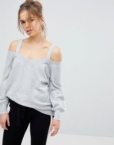Read more about Micha lounge cold shoulder jumper - grey