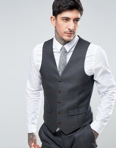 Read more about Harry brown slim fit twill waistcoat - grey