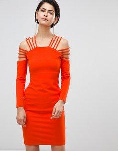 Read more about Forever unique strappy shoulder dress - orange