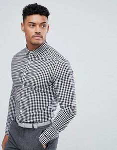Read more about Asos design smart skinny check shirt - black