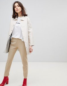 Read more about Stradivarius relaxed peg leg trousers - beige