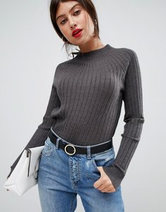 Read more about Vila high neck knitted rib jumper
