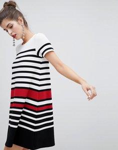 Read more about Stradivarius short sleeve stripe dress - multi