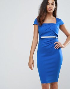 Read more about Jessica wright belted capped sleeve midi dress - blue