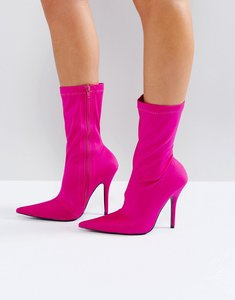 Read more about Public desire danger heeled ankle boots - pink