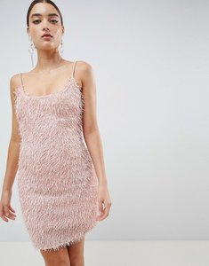 Read more about Missguided fringe bodycon dress - pink