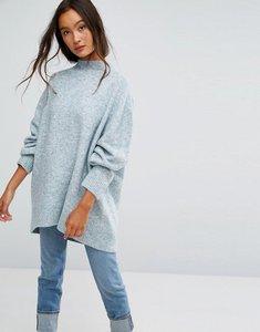 Read more about Weekday fluffy knit jumper - blue melange
