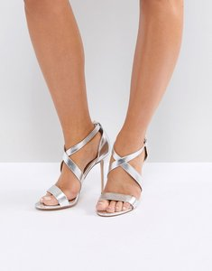 Read more about Office harper silver strappy heeled sandals - silver
