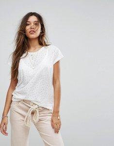 Read more about Maison scotch burnout t-shirt - 18 white
