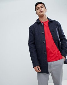 Read more about Selected wool check trench coat - navy