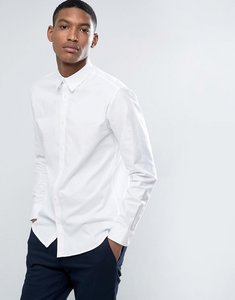 Read more about Selected homme identity slim oxford shirt with stretch - bright white