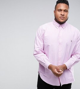 Read more about Polo ralph lauren plus oxford shirt in pink stripe - rose white