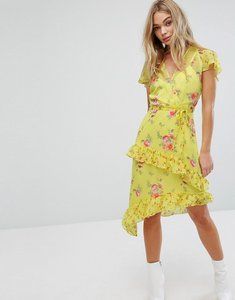 Read more about Miss selfridge floral printed asymetric dress - multi