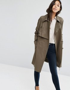 Read more about Asos mac with deep storm flap - khaki