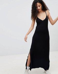 Read more about Bershka cami maxi dress in black - black