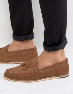 Read more about Kg by kurt geiger knighton tassel loafers - tan