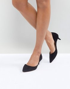 Read more about Aldo adylia kitten heel pointed shoe in black - black