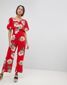 Read more about Ax paris bright floral jumpsuit - red